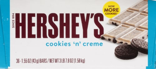 Hershey's Cookies 'n' Creme Standard Bar Box Perspective: left
