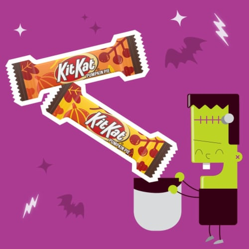Kit Kat® Miniatures Wafer Bars Halloween Candy in Pumpkin Pie Flavored Creme Perspective: left