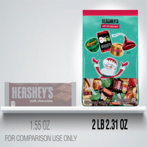 Hershey's Candy Dish Miniature Assortment Perspective: left