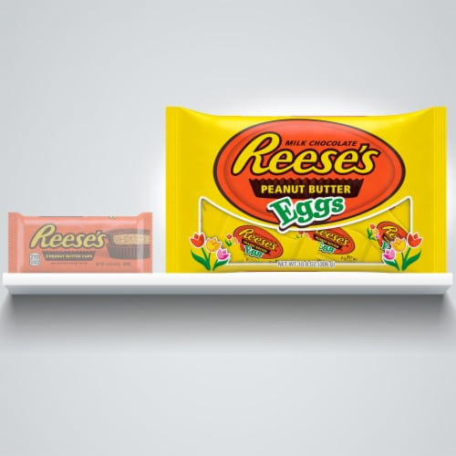 Reese's Milk Chocolate Peanut Butter Eggs Perspective: left