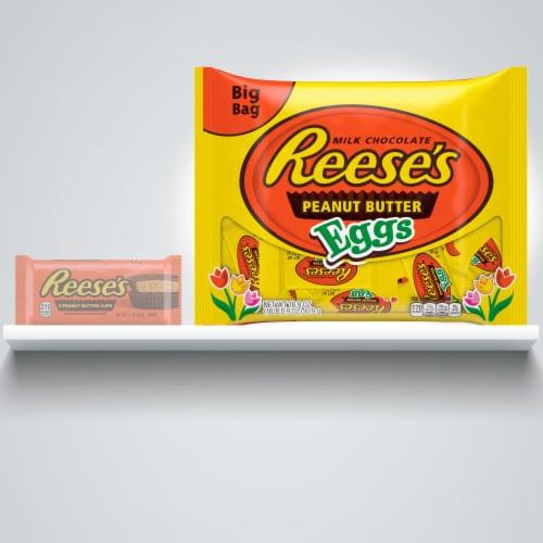 Reese's Milk Chocolate Peanut Butter Eggs Big Bag Perspective: left