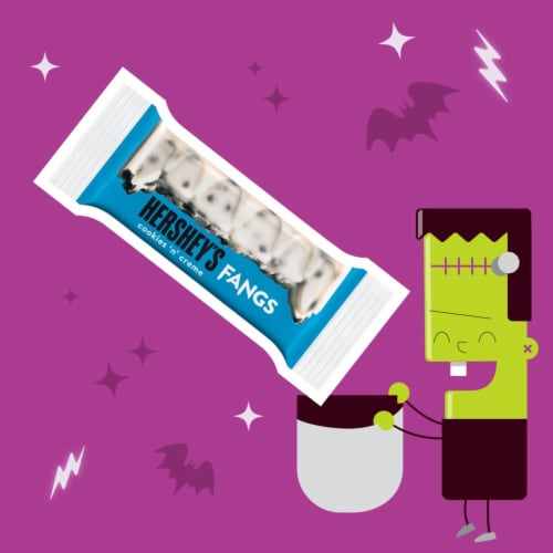 Hershey's Cookies 'N' Creme Fangs Snack Size Candy Bars Perspective: left
