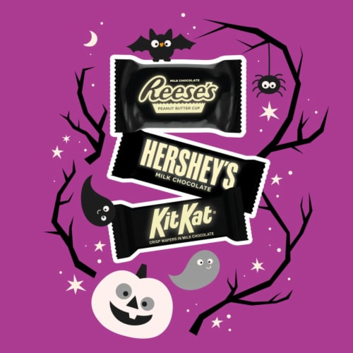 Hershey Halloween Candy Assortment with Glow in the Dark Wrappers Perspective: left