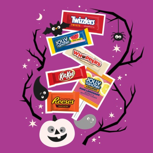 Hershey's Reese's, Jolly Rancher, Twizzlers, Whoppers, and Kit Kat® Candy Assortment Perspective: left