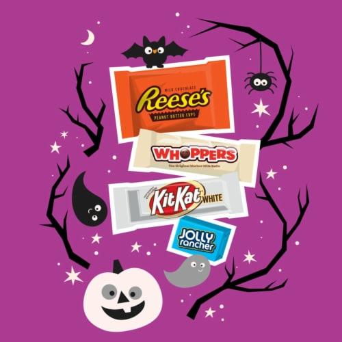 Hershey's Assorted Pumpkin Bowl Miniatures Candy Halloween Assortment Perspective: left