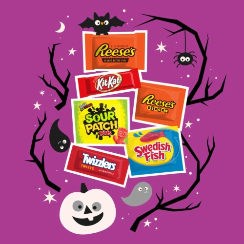 Hershey All-Time Greats Snack Size Halloween Candy Assortment Perspective: left