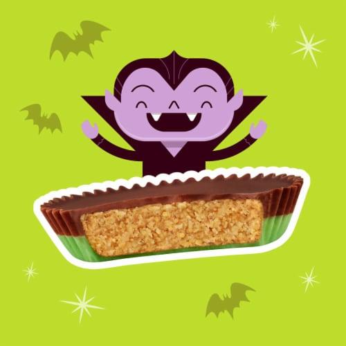 Reese's Frankenstein Snack Size Regular Peanut Butter Cups Perspective: left