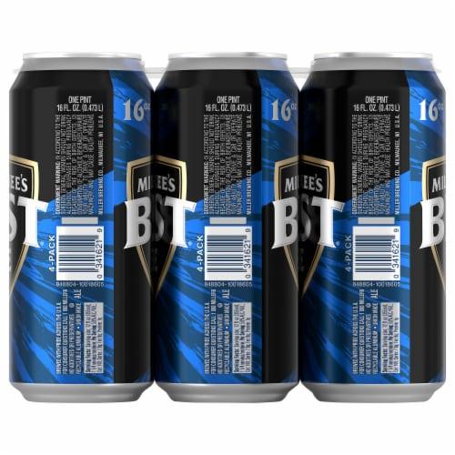Milwaukee's Best Ice American Lager Beer Perspective: left