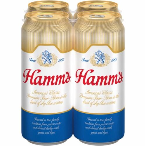 Hamm's America's Classic Premium Lager Beer Perspective: left