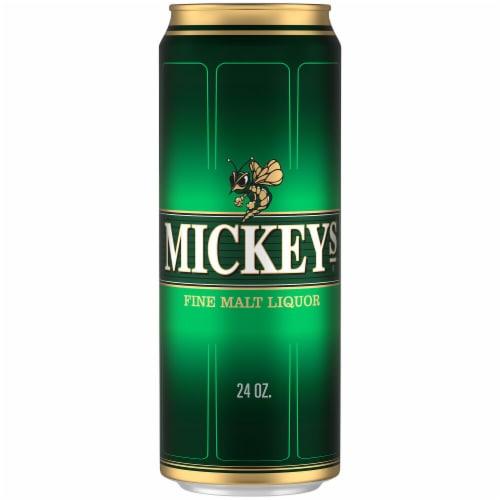 Mickeys Fine Malt Liquor Ale Beer Perspective: left