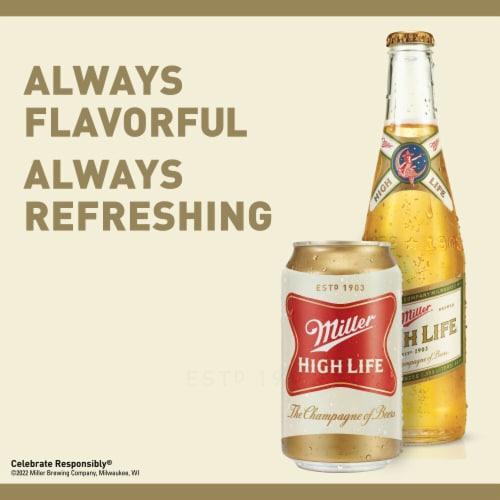 Miller High Life American Lager Beer 18 Bottles Perspective: left