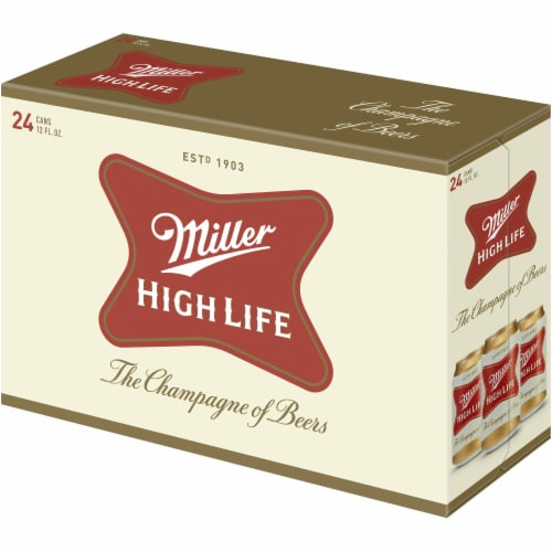 Miller High Life American Lager Beer 24 Cans Perspective: left