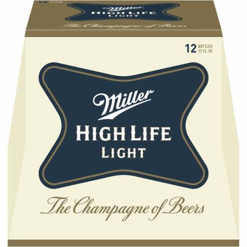 Miller High Life Light Lager Beer Perspective: left
