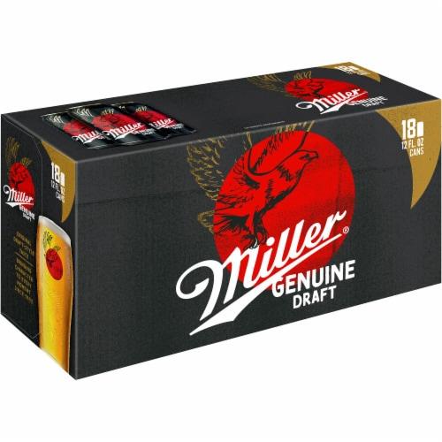 Miller Genuine Draft American Lager Beer Perspective: left