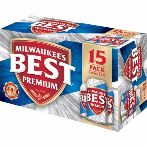 Milwaukee's Best Premium American Lager Beer 15 Cans Perspective: left