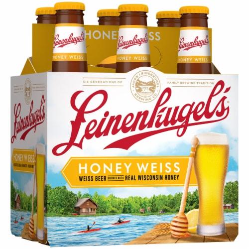 Leinenkugel's Honey Weiss Lager Beer Perspective: left