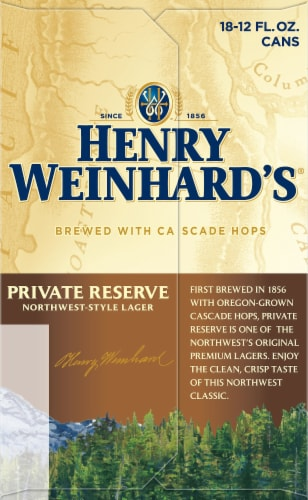 Henry Weinhard's Private Reserve Northwest-Style Lager Perspective: left