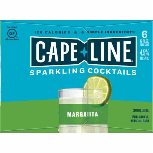 Cape Line Gluten Free Sparkling Margarita Cocktails 6 Count Perspective: left