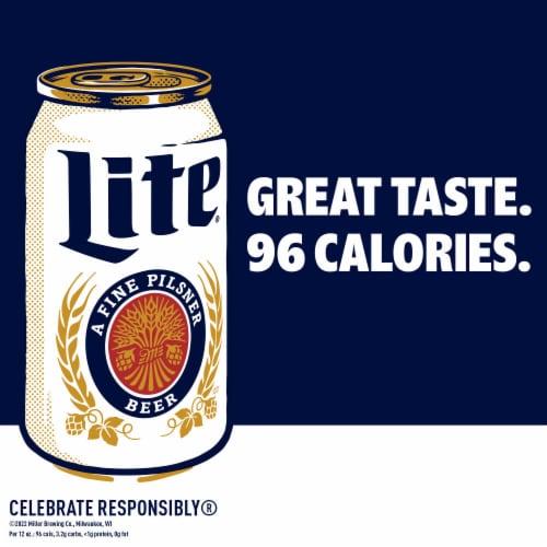 Miller Lite Pilsner Beer Perspective: left