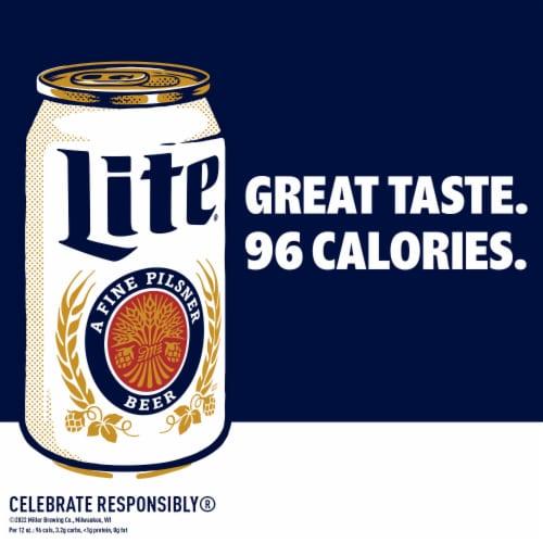 Miller Lite American Light Lager Beer Perspective: left
