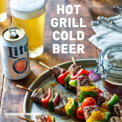 Miller Lite American Light Lager Beer Perspective: left