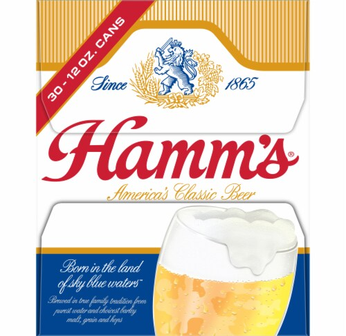Hamm's America's Classic Premium Lager Beer 30 Count Perspective: left