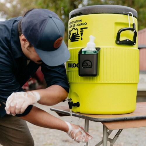 Igloo Portable 10 Gallon Camping Handwash Station Water Dispenser Jug w/ Spigot Perspective: left