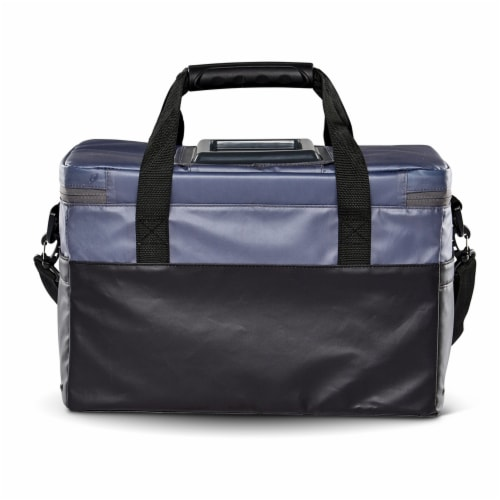 Igloo Coast Durable and Compact Insulated 36 Can Cooler Duffel Bag, Dark Blue Perspective: left