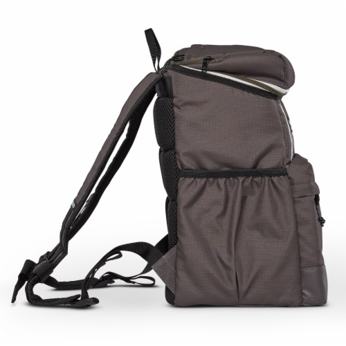 Igloo 30 Can Large Portable Insulated Soft Cooler Backpack Carry Bag, Olive Perspective: left