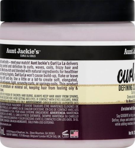Aunt Jackie's Curl La La Defining Curl Custard Perspective: left