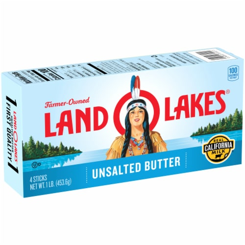Land O' Lakes Unsalted Butter Sticks Perspective: left