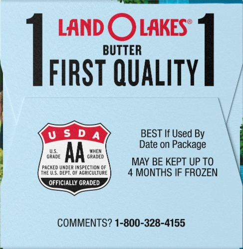 Land O' Lakes Half Stick Unsalted Butter Perspective: left