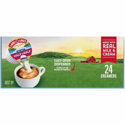 Land O Lakes Mini Moo's Half & Half Creamers 24 Count Perspective: left