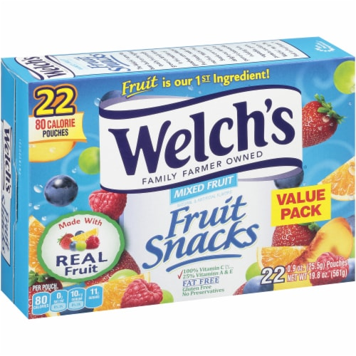 Welch's Mixed Fruit Fruit Snacks 22 Count Perspective: left