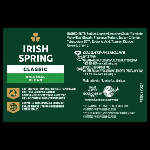 Irish Spring Original Deodorant Bar Soap Perspective: left
