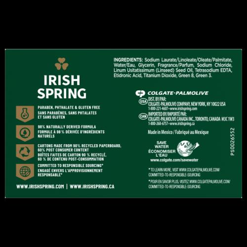 Irish Spring Original Scent Deodorant Bar Soap Perspective: left
