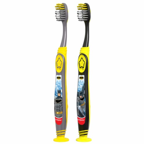 Colgate® Kids Batman Extra Soft Manual Toothbrushes Perspective: left