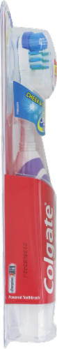 Colgate Battery Operated Full Head Soft Toothbrush Perspective: left