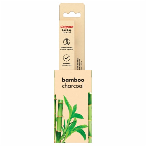 Colgate Soft Bamboo Charcoal Toothbrush Perspective: left