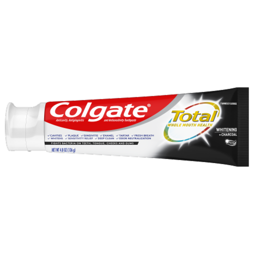 Colgate Total Whitening + Charcoal Toothpaste Value Pack Perspective: left