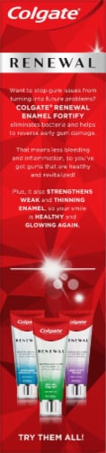 Colgate Renewal Enamel Fortify Whitening Toothpaste Perspective: left