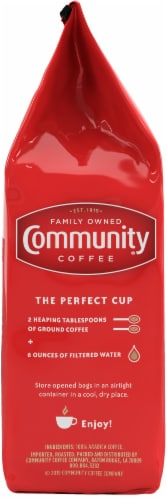 Community Coffee Signature Blend Dark Roast Whole Bean Coffee Perspective: left