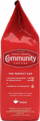 Community Coffee Coffee & Chicory Decaffeinated Ground Coffee Perspective: left