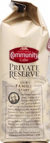 Community Coffee Private Reserve Brazil Santos Bourbon Medium Dark Roast Whole Bean Coffee Perspective: left