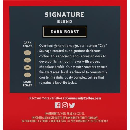 Community Coffee Signature Blend Dark Roast Single-Serve Cups Perspective: left