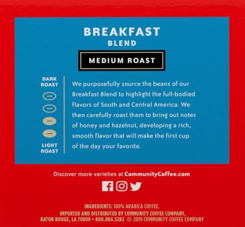 Community Coffee Breakfast Blend Medium Roast Coffee Single-Serve Cups Perspective: left