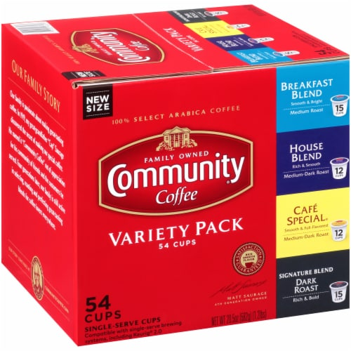 Community Coffee Single-Serve Cups Variety Pack Perspective: left