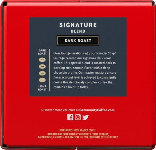 Community Coffee Signature Blend Dark Roast Coffee Single-Serve Cups Perspective: left