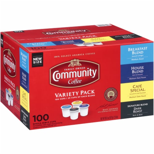 Community Coffee Single Serve Cups Variety Pack Perspective: left