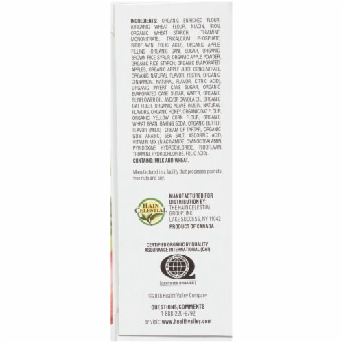 Health Valley Organic Apple Cobbler Cereal Bars Perspective: left
